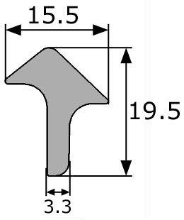 19 5x15 5mm goma esponjosa estanqueidad puerta for Gomas estanqueidad puertas
