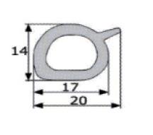 20x14mm goma esponjosa estanqueidad puerta for Gomas estanqueidad puertas