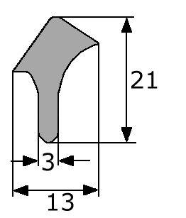 21x13mm goma esponjosa estanqueidad puerta for Gomas estanqueidad puertas