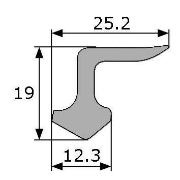 25 2x12 3mm goma esponjosa estanqueidad puerta for Gomas estanqueidad puertas