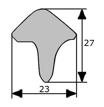 27x23mm goma esponjosa estanqueidad puerta for Gomas estanqueidad puertas