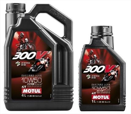 Aceite 4T Motul 300V2 10W50 Moto Road/Off Racing