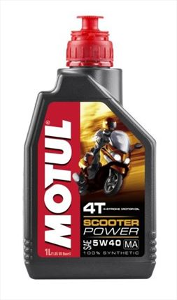 Aceite Moto 4T Motul Scooter Power 5W40