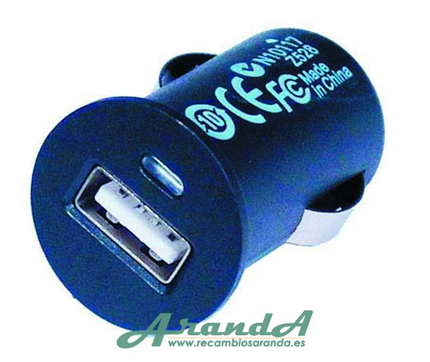 Cargador Mechero USB 12/24V 2,1A