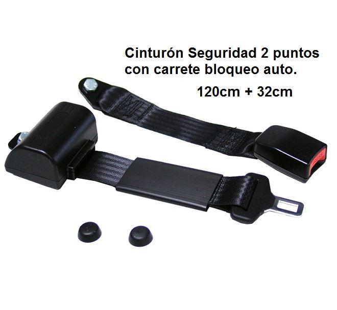 063912cab12 Cinturón Seguridad 2 puntos. 110cm+30cm. Con carrete ALR