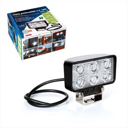 Faro de Trabajo LED Rectangular 18W · 12-30V
