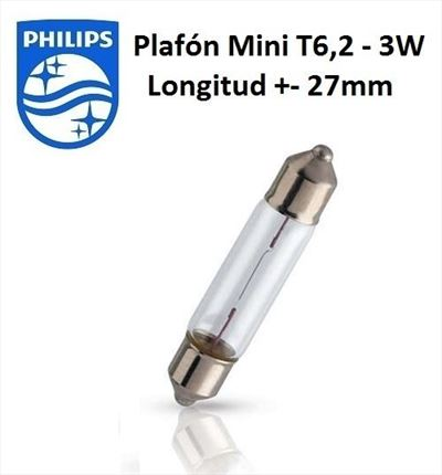 Festoon 3W Philips Lámpara 12V 3W (Plafón)
