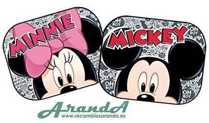 Juego Parasoles Laterales Mickey Minnie Mouse