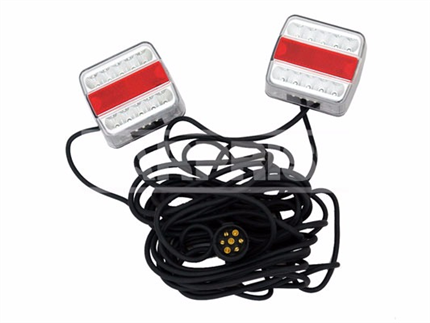 Kit Iluminacion Trasera Led Imantado Cable Largo
