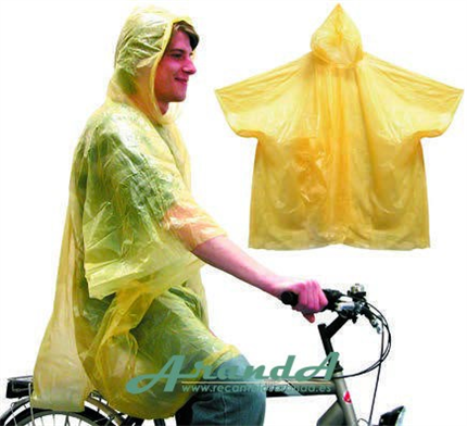 Poncho Desechable 100% Impermeable