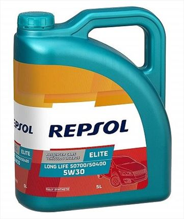 Repsol 5W30 Elite Long Life 50700/50400 · 5 Litros