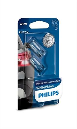 Set W5W Philips Whitevision Lámpara 12V 5W