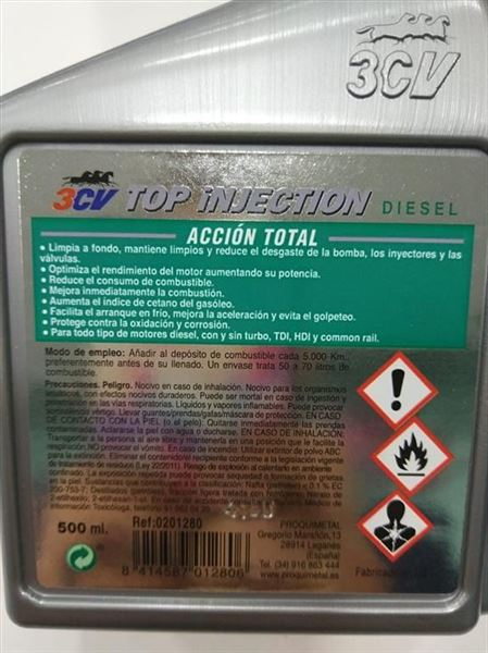 Top Injection Diesel 500ml 3CV Acción Total (1)