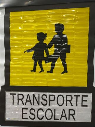 V10 Cortina Enrollable Transporte Escolar 58x69cm