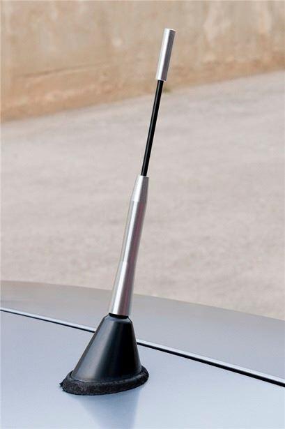 Antena para coche con 3 tipos de rosca 16 cm de altura