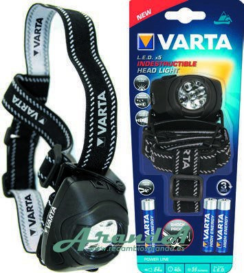 Varta Linterna 5LED Indestructible (Pilas Incluidas)