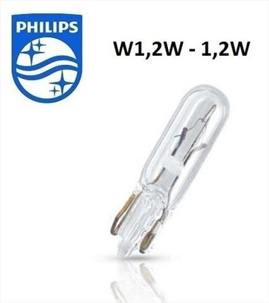 W1,2W Philips Lámpara 12V 1,2W (Cuña)