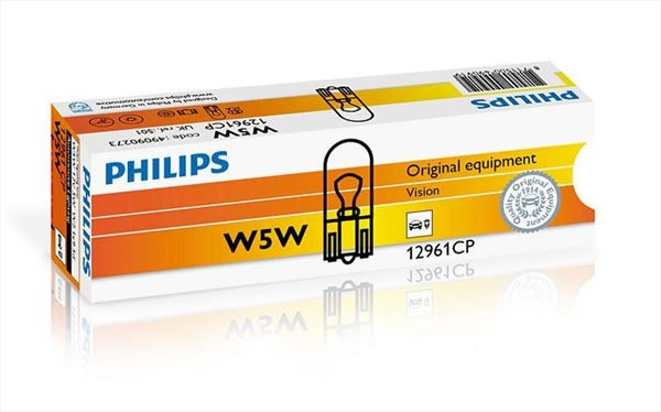 W5W Philips Lámpara 12V 5W (Cuña) (1)